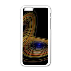 Wondrous Trajectorie Illustrated Line Light Black Apple Iphone 6/6s White Enamel Case by Mariart