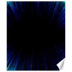 Colorful Light Ray Border Animation Loop Blue Motion Background Space Canvas 8  X 10  by Mariart