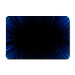 Colorful Light Ray Border Animation Loop Blue Motion Background Space Small Doormat  by Mariart
