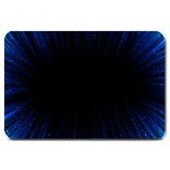 Colorful Light Ray Border Animation Loop Blue Motion Background Space Large Doormat  by Mariart