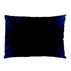 Colorful Light Ray Border Animation Loop Blue Motion Background Space Pillow Case by Mariart