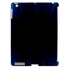 Colorful Light Ray Border Animation Loop Blue Motion Background Space Apple Ipad 3/4 Hardshell Case (compatible With Smart Cover) by Mariart