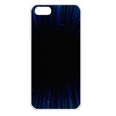 Colorful Light Ray Border Animation Loop Blue Motion Background Space Apple Iphone 5 Seamless Case (white) by Mariart