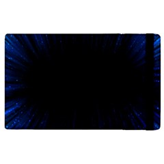 Colorful Light Ray Border Animation Loop Blue Motion Background Space Apple Ipad 3/4 Flip Case by Mariart