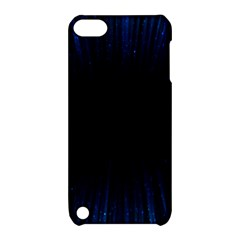 Colorful Light Ray Border Animation Loop Blue Motion Background Space Apple Ipod Touch 5 Hardshell Case With Stand by Mariart