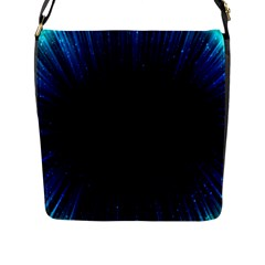 Colorful Light Ray Border Animation Loop Blue Motion Background Space Flap Messenger Bag (l)  by Mariart