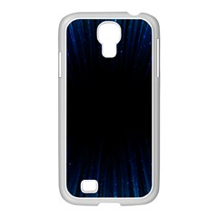 Colorful Light Ray Border Animation Loop Blue Motion Background Space Samsung Galaxy S4 I9500/ I9505 Case (white) by Mariart
