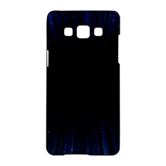 Colorful Light Ray Border Animation Loop Blue Motion Background Space Samsung Galaxy A5 Hardshell Case  by Mariart