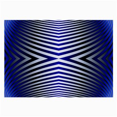 Blue Lines Iterative Art Wave Chevron Large Glasses Cloth (2 Side) by Mariart