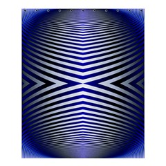 Blue Lines Iterative Art Wave Chevron Shower Curtain 60  X 72  (medium)  by Mariart