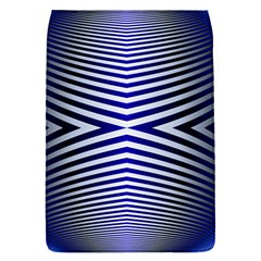 Blue Lines Iterative Art Wave Chevron Flap Covers (s)  by Mariart