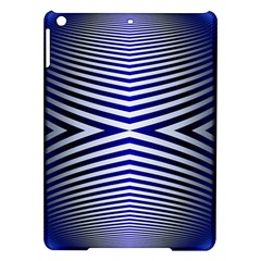 Blue Lines Iterative Art Wave Chevron Ipad Air Hardshell Cases by Mariart