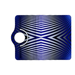 Blue Lines Iterative Art Wave Chevron Kindle Fire Hd (2013) Flip 360 Case by Mariart