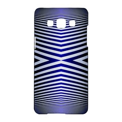 Blue Lines Iterative Art Wave Chevron Samsung Galaxy A5 Hardshell Case  by Mariart