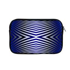 Blue Lines Iterative Art Wave Chevron Apple Macbook Pro 13  Zipper Case by Mariart
