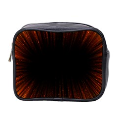 Colorful Light Ray Border Animation Loop Orange Motion Background Space Mini Toiletries Bag 2 Side by Mariart