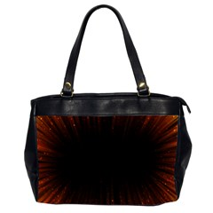 Colorful Light Ray Border Animation Loop Orange Motion Background Space Office Handbags (2 Sides)  by Mariart