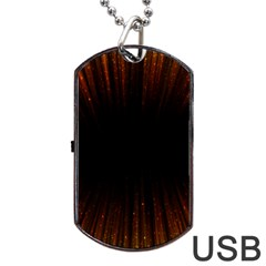 Colorful Light Ray Border Animation Loop Orange Motion Background Space Dog Tag Usb Flash (two Sides) by Mariart