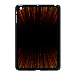 Colorful Light Ray Border Animation Loop Orange Motion Background Space Apple Ipad Mini Case (black) by Mariart