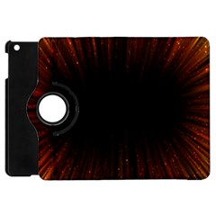 Colorful Light Ray Border Animation Loop Orange Motion Background Space Apple Ipad Mini Flip 360 Case by Mariart