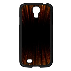 Colorful Light Ray Border Animation Loop Orange Motion Background Space Samsung Galaxy S4 I9500/ I9505 Case (black) by Mariart