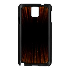 Colorful Light Ray Border Animation Loop Orange Motion Background Space Samsung Galaxy Note 3 N9005 Case (black) by Mariart