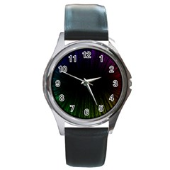 Colorful Light Ray Border Animation Loop Rainbow Motion Background Space Round Metal Watch