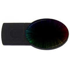 Colorful Light Ray Border Animation Loop Rainbow Motion Background Space Usb Flash Drive Oval (2 Gb) by Mariart