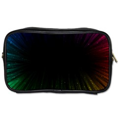 Colorful Light Ray Border Animation Loop Rainbow Motion Background Space Toiletries Bags by Mariart
