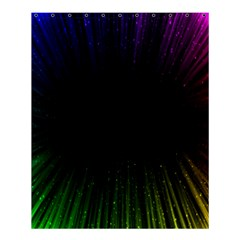 Colorful Light Ray Border Animation Loop Rainbow Motion Background Space Shower Curtain 60  X 72  (medium)  by Mariart