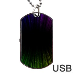 Colorful Light Ray Border Animation Loop Rainbow Motion Background Space Dog Tag Usb Flash (two Sides) by Mariart