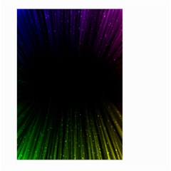 Colorful Light Ray Border Animation Loop Rainbow Motion Background Space Large Garden Flag (two Sides) by Mariart