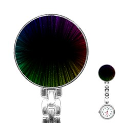 Colorful Light Ray Border Animation Loop Rainbow Motion Background Space Stainless Steel Nurses Watch by Mariart