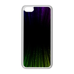 Colorful Light Ray Border Animation Loop Rainbow Motion Background Space Apple Iphone 5c Seamless Case (white) by Mariart