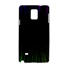 Colorful Light Ray Border Animation Loop Rainbow Motion Background Space Samsung Galaxy Note 4 Hardshell Case by Mariart