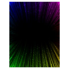 Colorful Light Ray Border Animation Loop Rainbow Motion Background Space Drawstring Bag (large) by Mariart