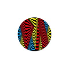 Door Pattern Line Abstract Illustration Waves Wave Chevron Red Blue Yellow Black Golf Ball Marker by Mariart