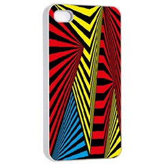 Door Pattern Line Abstract Illustration Waves Wave Chevron Red Blue Yellow Black Apple Iphone 4/4s Seamless Case (white) by Mariart