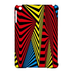 Door Pattern Line Abstract Illustration Waves Wave Chevron Red Blue Yellow Black Apple Ipad Mini Hardshell Case (compatible With Smart Cover) by Mariart