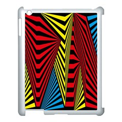Door Pattern Line Abstract Illustration Waves Wave Chevron Red Blue Yellow Black Apple Ipad 3/4 Case (white) by Mariart