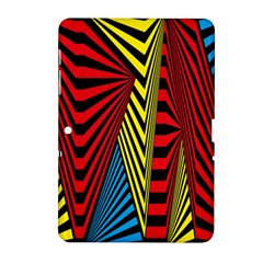Door Pattern Line Abstract Illustration Waves Wave Chevron Red Blue Yellow Black Samsung Galaxy Tab 2 (10 1 ) P5100 Hardshell Case  by Mariart