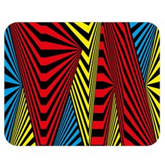 Door Pattern Line Abstract Illustration Waves Wave Chevron Red Blue Yellow Black Double Sided Flano Blanket (medium)  by Mariart