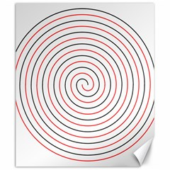 Double Line Spiral Spines Red Black Circle Canvas 20  X 24   by Mariart