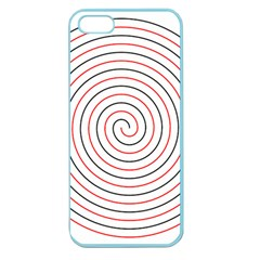 Double Line Spiral Spines Red Black Circle Apple Seamless Iphone 5 Case (color) by Mariart