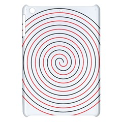 Double Line Spiral Spines Red Black Circle Apple Ipad Mini Hardshell Case by Mariart