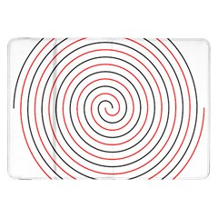 Double Line Spiral Spines Red Black Circle Samsung Galaxy Tab 8 9  P7300 Flip Case by Mariart