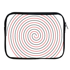 Double Line Spiral Spines Red Black Circle Apple Ipad 2/3/4 Zipper Cases by Mariart