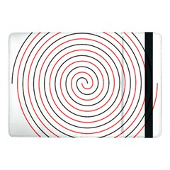 Double Line Spiral Spines Red Black Circle Samsung Galaxy Tab Pro 10 1  Flip Case by Mariart
