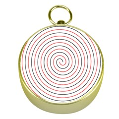 Double Line Spiral Spines Red Black Circle Gold Compasses by Mariart