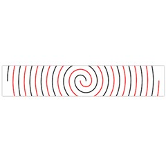Double Line Spiral Spines Red Black Circle Flano Scarf (large) by Mariart